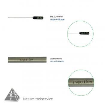 Prüfstift Kontrollstift Ø 6,00 mm  bis  Ø 6,99 mm Messstift