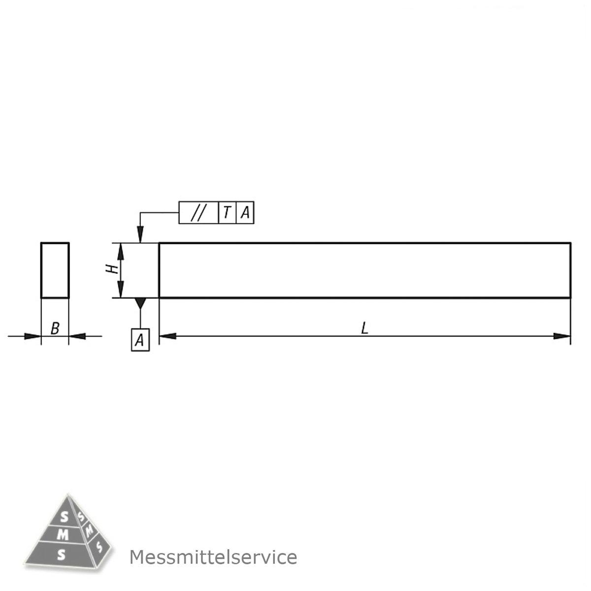 Parallelunterlagen 150 mm L/änge paarweise fein geschliffen 12 x 35 mm